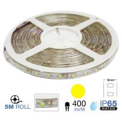 Tira led SMD3528 amarillo 3.6W/m 60 leds/m 12V IP65
