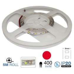 Tira led SMD3528 rojo 3.6W/m 60 led/m 12V IP20 5 metros
