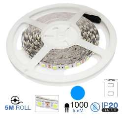Tira led SMD5050 BLUE 9.6W/m IP20 12V 60 leds/m 5 metros