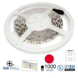 Tira led SMD5050 Rojo 9.60 W/mt. IP20 12V 60 leds/mt. 5 metros