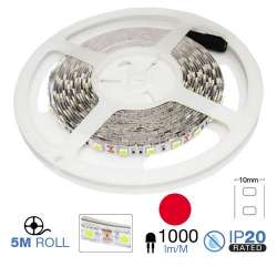 Tira led SMD5050 Rojo 9.60 W/mt. IP20 12V 60 leds/mt. 5 metros