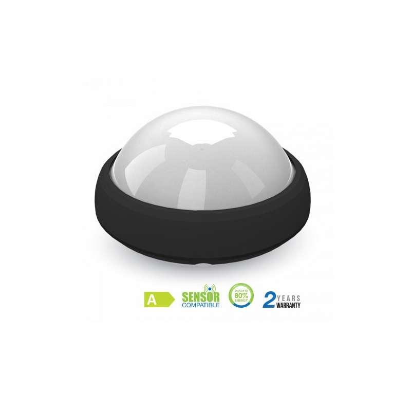 Plafón LED superficie circular 12W 120° IP54 Negro