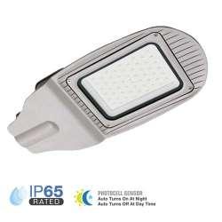 Luminaria LED exterior Pro Sensor fotocélula High Lumen 50W 100° IP65