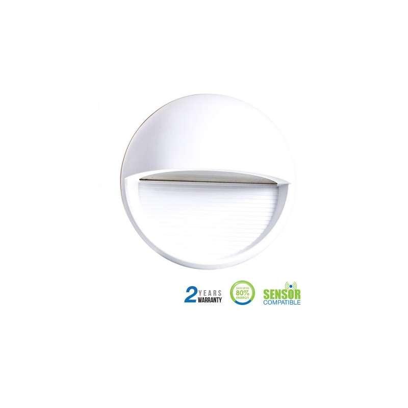 Baliza Led Step Light Elegant Circular 3W 90° IP65 Blanco
