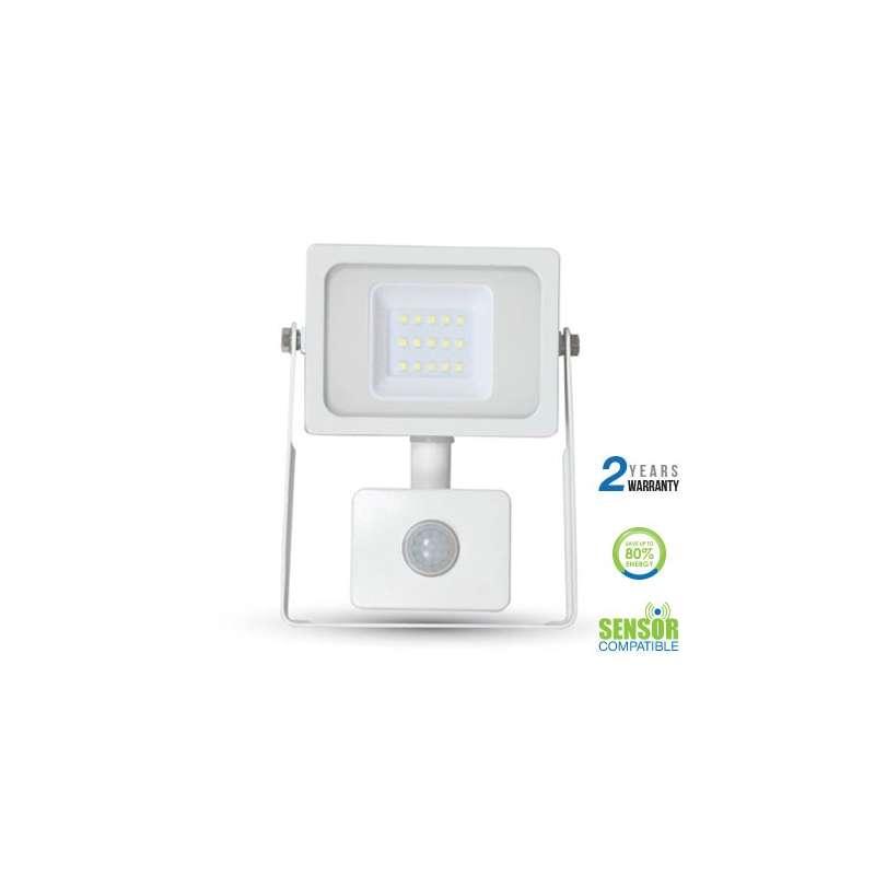 Foco Proyector LED con sensor de movimiento 10W 100° Blanco