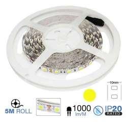 Tira led SMD5050 amarillo 10.8W/m 60 leds/m 12V IP20 5 metros