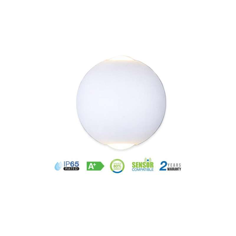 APLIQUE LED DE PARED SERIE CANDY 6W 90° IP65 BLANCO