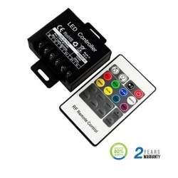 Controlador dimmer para tira LED RGB máx. 80/160W 6.2Ax3CH DC12/24V + mando RF