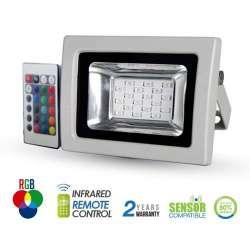 Proyector led PREMIUM SMD RGB 10W 120° radio control por infrarrojos