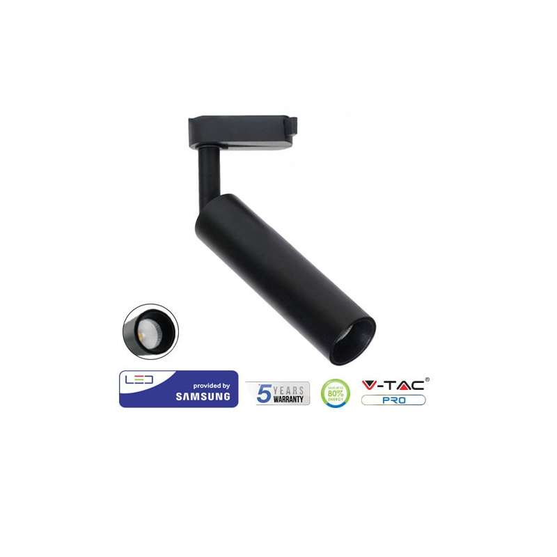 Foco Proyector LED COB Samsung PRO 4 Núcleos 7W 24° Negro