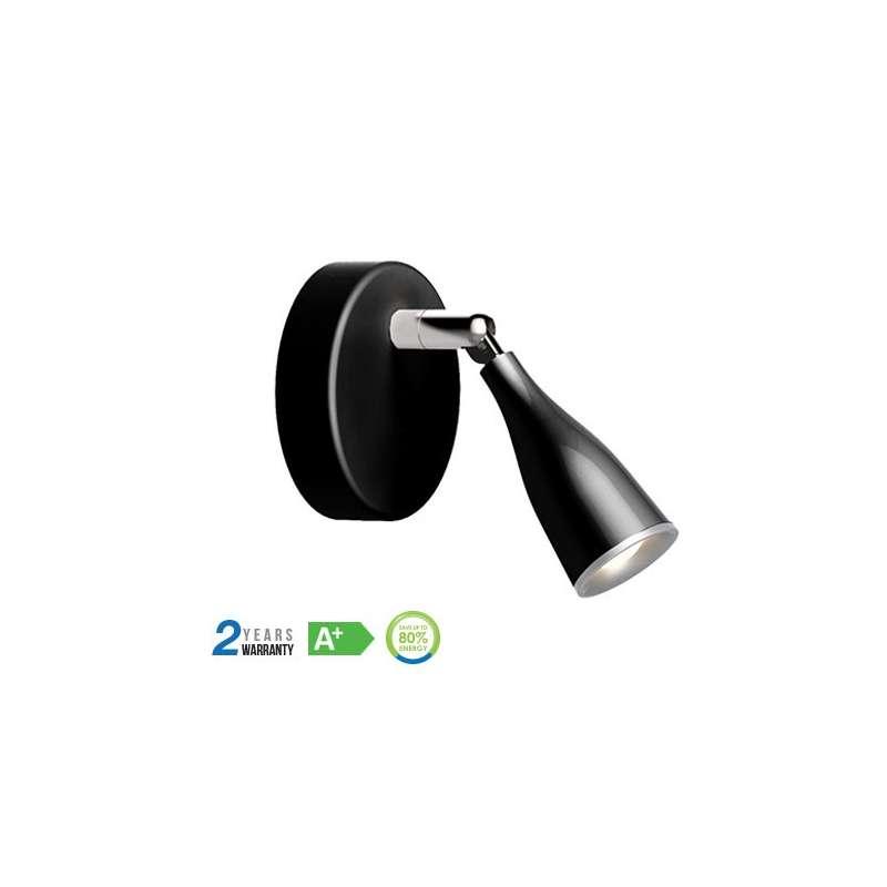 Lámpara de Pared Serie Modern 4.5W 100° IP20 Negro