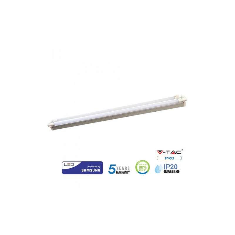 Regleta LED doble Samsung PRO IP20 36W 120cm - Tubos LED incluidos