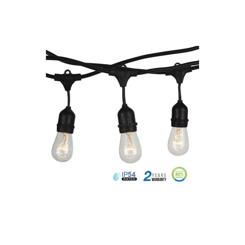 GUIRNALDA DE LUCES LED E27 5 METROS IP54