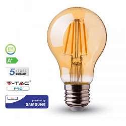 Lámpara LED Samsung Filament Amber Cover A60 E27 2200K 6W 300° Gama PRO