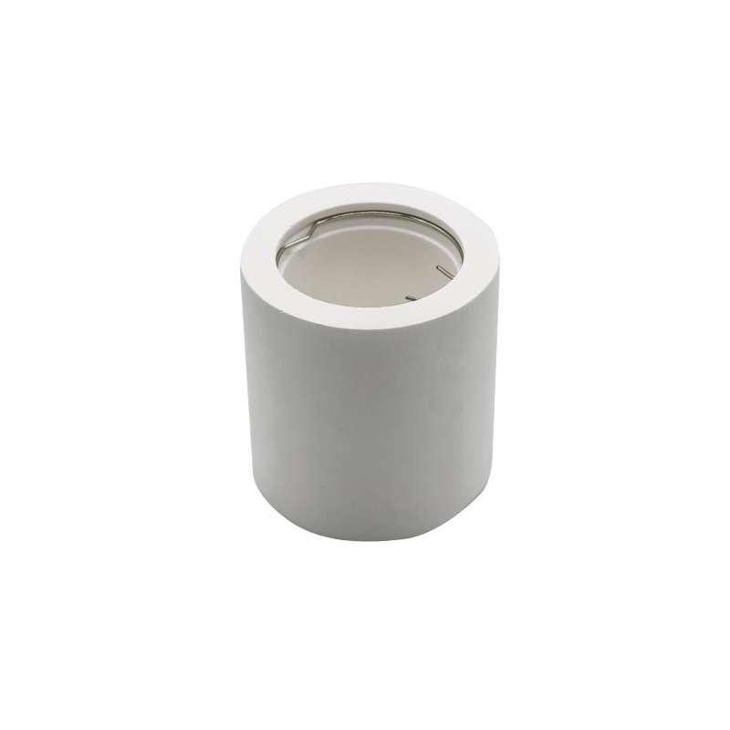 Aplique superficie para bombilla Led GU10 Cylindrical Blanco
