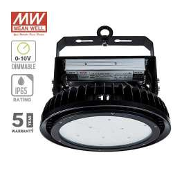 Campana industrial LED UFO High Lumens Mean Well SMD 500W 120° Regulable 0-10V