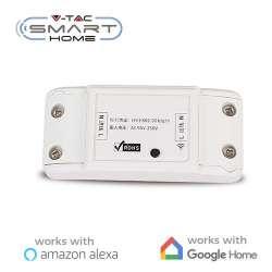 Interruptor Inalámbrico V-TAC Smart Home WIFI IP20 compatible con Amazon Alexa y Google Home