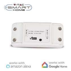 Interruptor Inalámbrico V-TAC Smart Home WIFI IP20 compatible con Amazon Alexa y Google Home