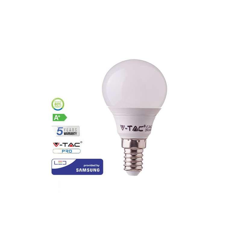 LED Bombilla V TAC P45 Samsung 7W E14 180° PRO A4jR35Lq