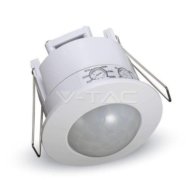 Detector de presencia por infrarrojos empotrable 360°. Carga máxima 300W