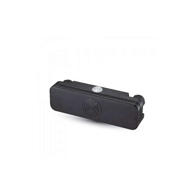 Sensor de movimiento por microondas 180° IP65 Carga máx 200W Negro