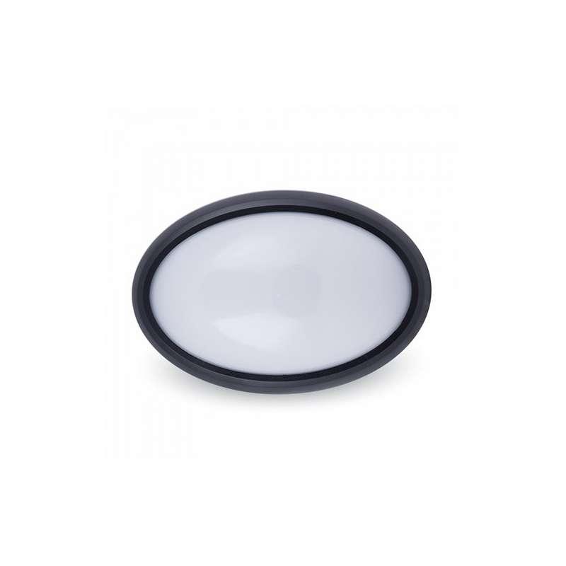 Plafón LED Superficie Oval 12W 110° IP54 Negro