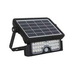 Foco proyector LED SOLAR con sensor PIR 4000K 5W Negro