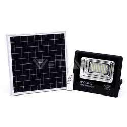 Foco proyector LED con panel solar 6000K 20W Negro