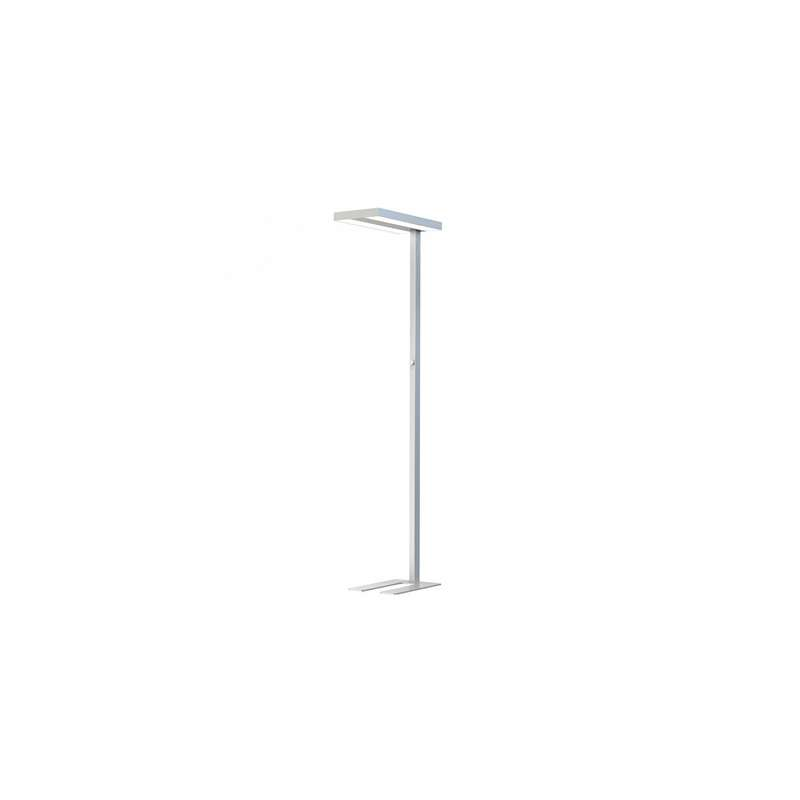Lámpara de pie Knob Dimming 4000K 80W 110°/90° Plata