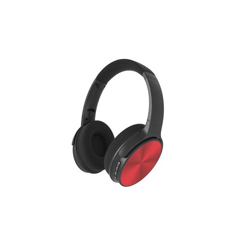 Auricular inalámbrico de diadema bluetooth V-TAC 500 mAh color negro