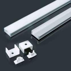Perfil aluminio tira LED en...